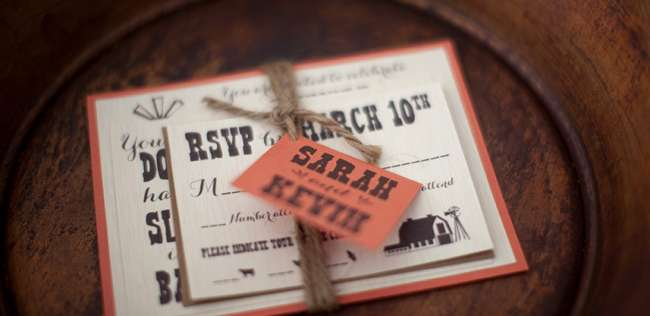 Rustic Invitation with Twine