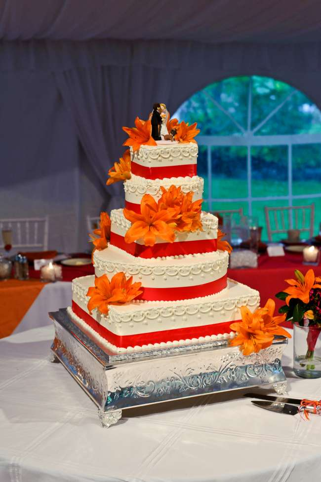 Orange and Red Cake