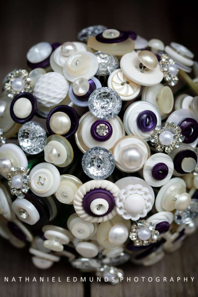 Unique bouquet made of buttons