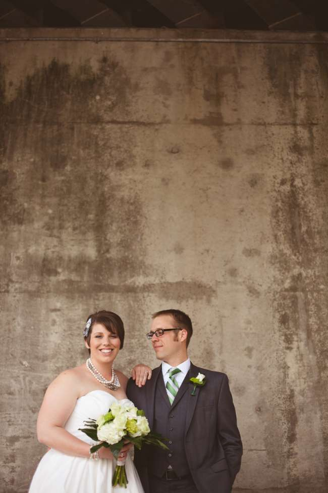 Bride & Groom With Green Accents