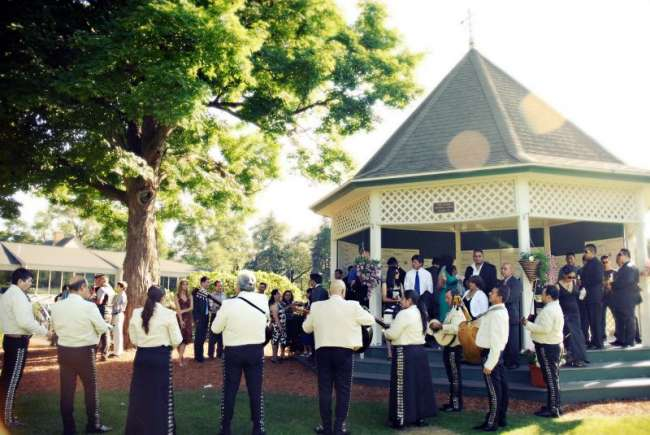 Musicians outside Gazebo