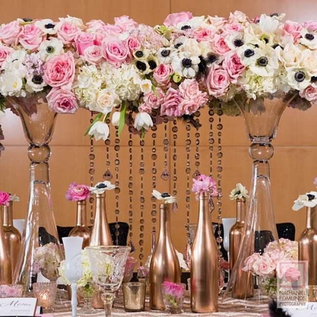 Tall floral arrangements