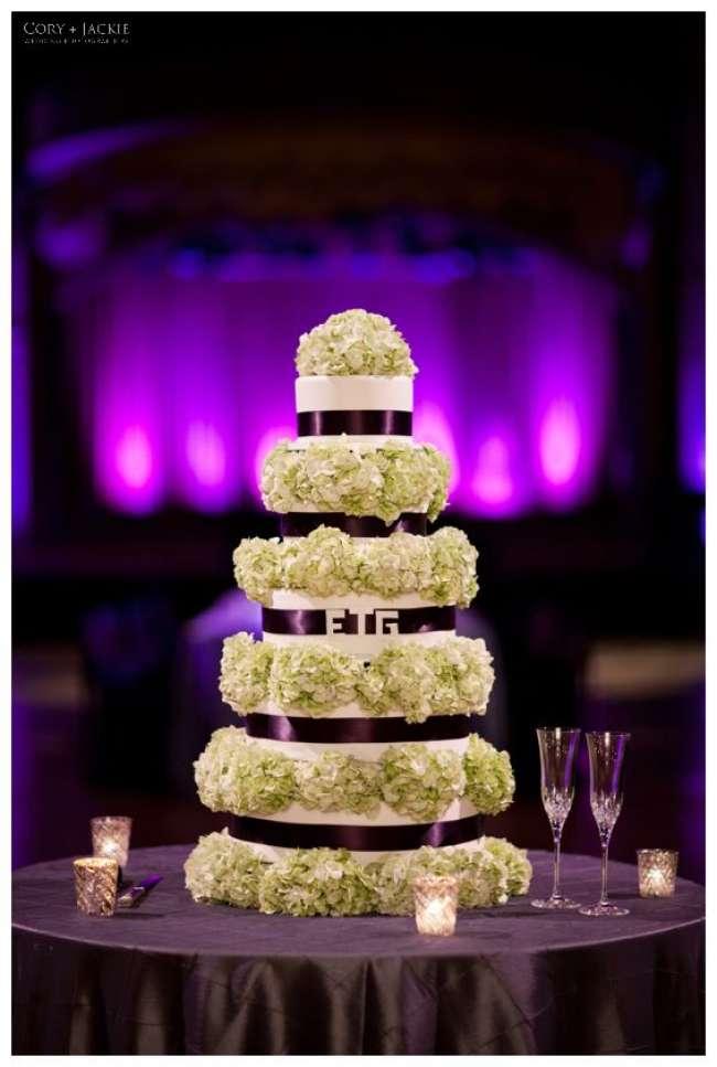 Purple and Green Cake