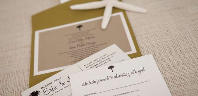 Pocketfold Destination Wedding Invitation