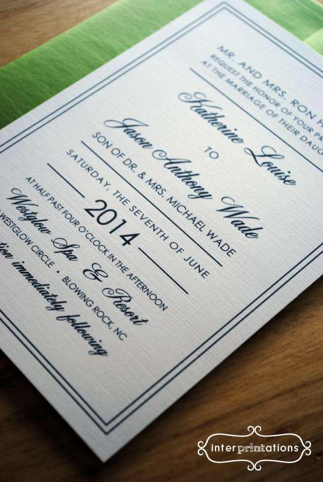 Resort Wedding Invitation