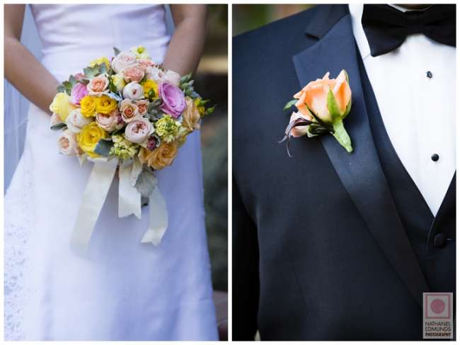 Bride's Bouquet & Groom's Boutonniere