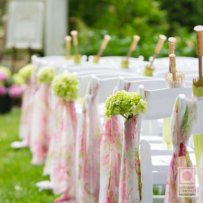 Chair decor for outdoor ceremony
