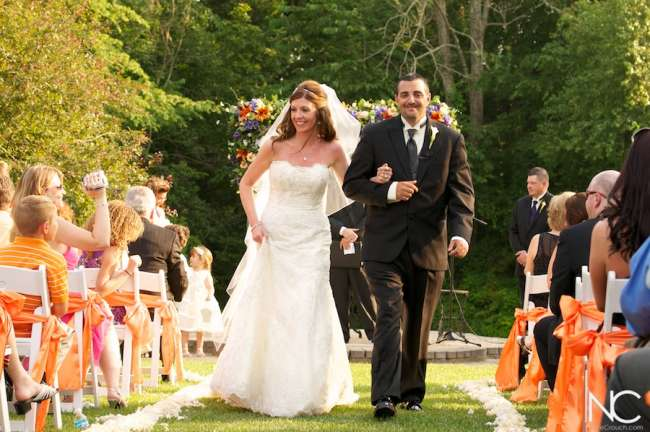 Sunny Orange Weddings at Avon Gardens