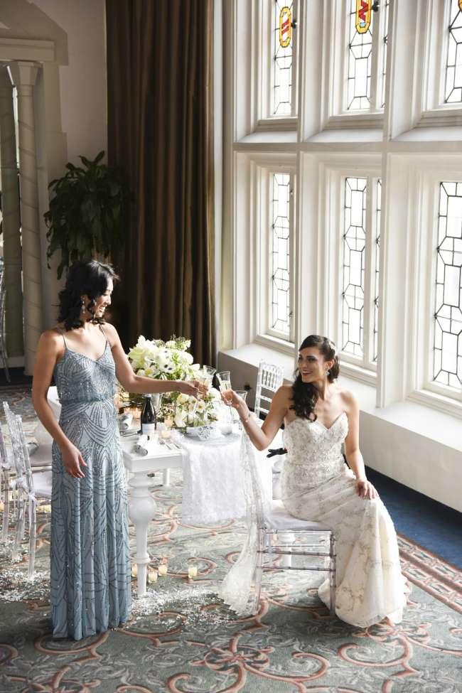Bride & Bridesmaid at Reception