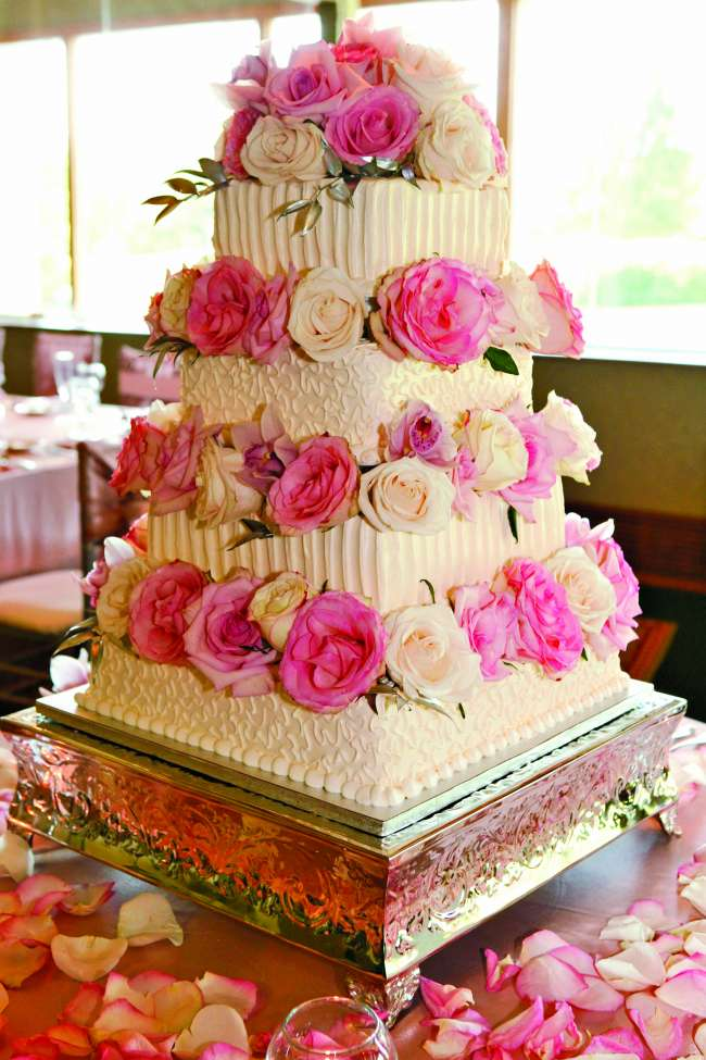 4-Tiered Buttercream Pink Cake