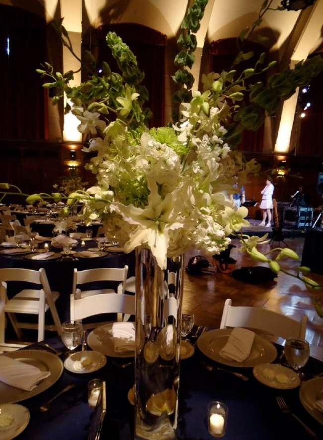 Tall Centerpiece with White Flowers