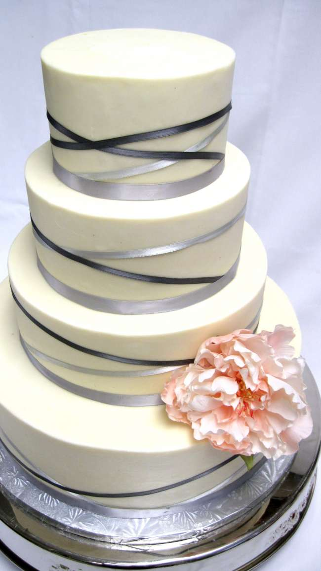 Modern Cake Tied with a Ribbon