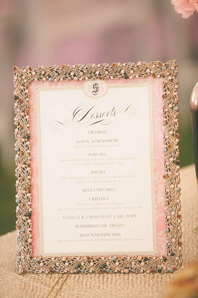 Dessert table sign