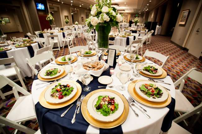 Pre-Plated Salads in Elegant Reception