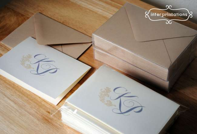 Monogrammed notecards