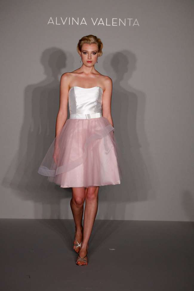 Alvina Valenta Pink Bridesmaid Dress