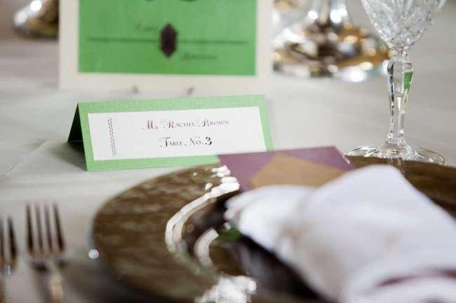 Place Card on Reception Table