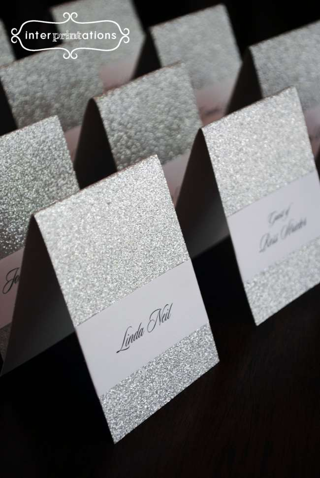 Sparkly place cards
