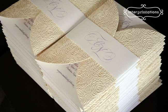 Elegantly embossed invitations