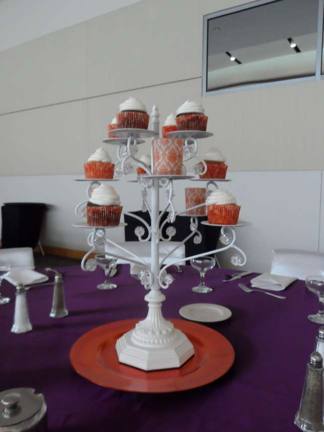 Purple and Orange Cupcake Tree