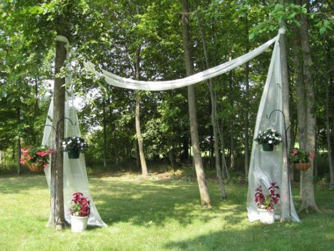 Outdoor Fabric Archway