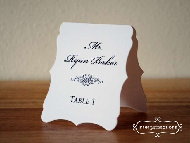 Scroll Border Place Cards