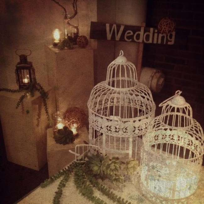 Rustic Birdcage Decor