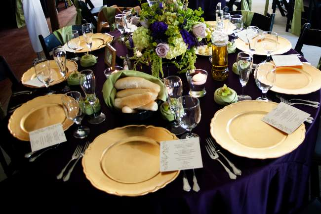 A Purple and Green Table
