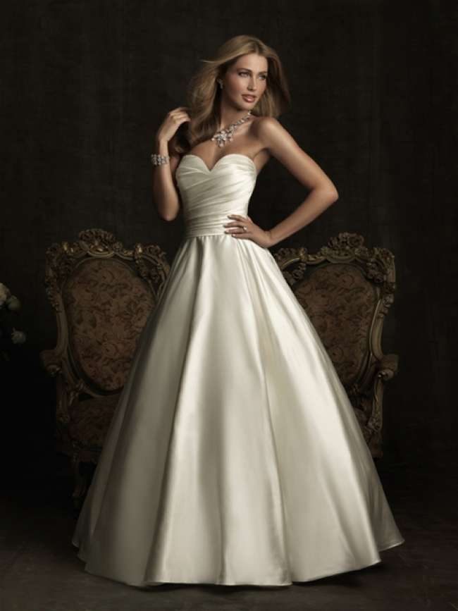Allure Satin Strapless Gown