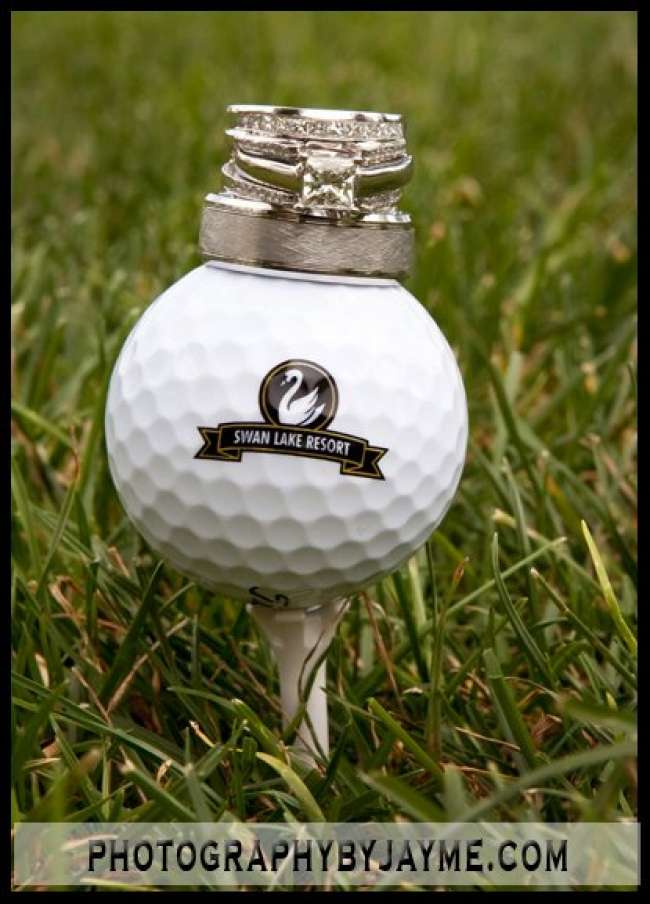 Couples' Rings on a Golf Ball