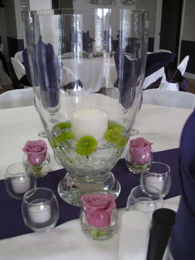 Floating Flower & Candle Centerpiece