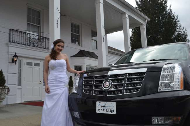 A Bride with a Classy Ride