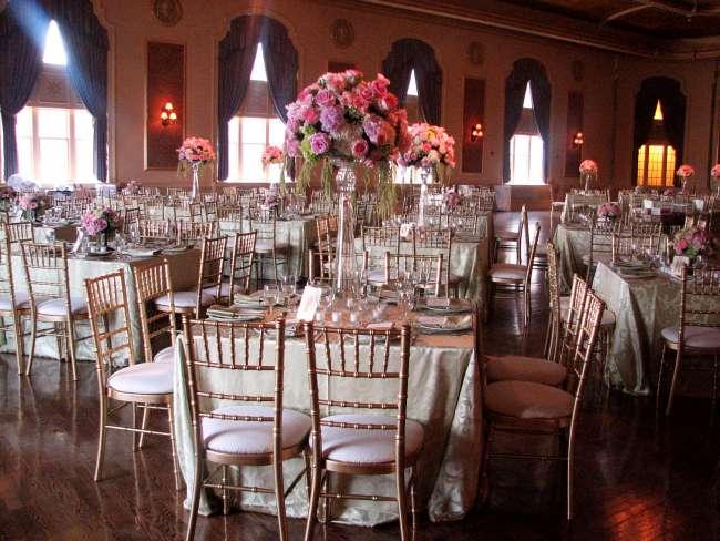 Palais Royale ballroom reception square tables for 8