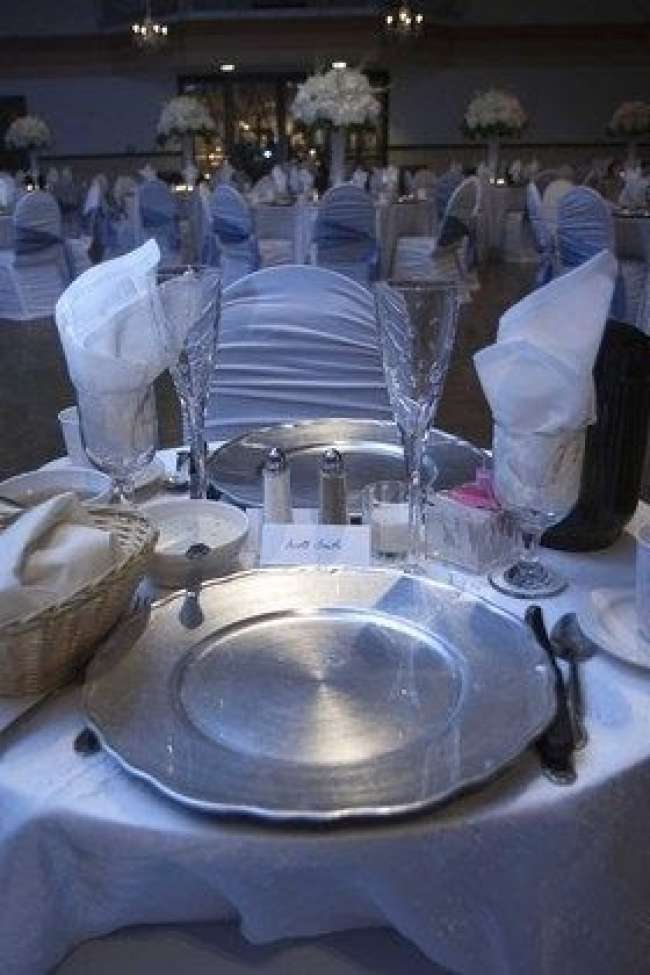 White & Silver Couple's Table