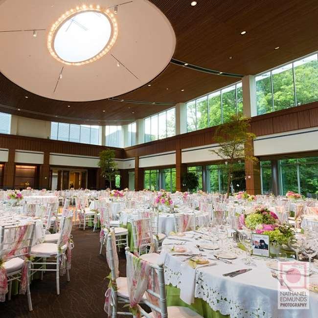 Wedding reception in art museum