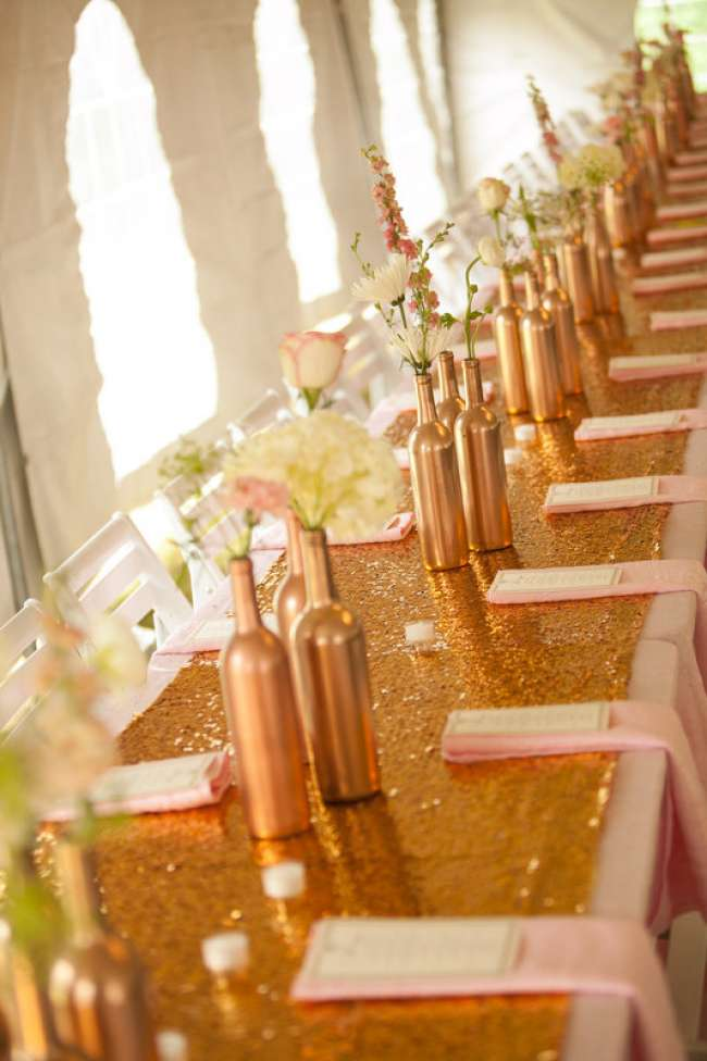 Wedding party reception table