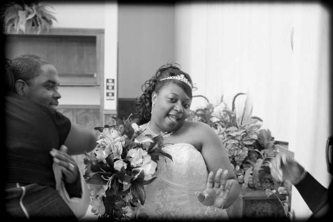 A Happy Bride After the Ceremony