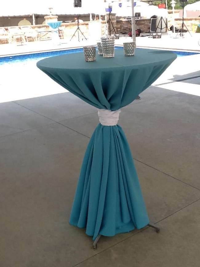 Turquoise & Silver Cocktail Hour Table