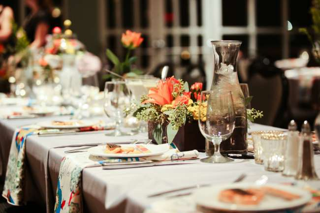 Colorful, Floral Head Table