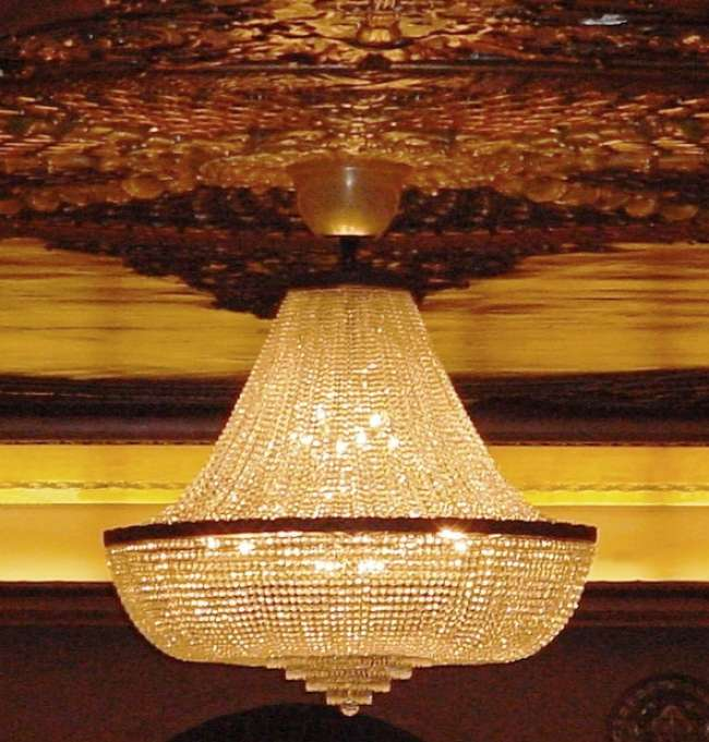Palais Royale ballroom chandelier