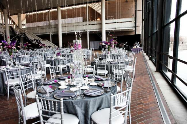 Gray, SIlver & Purple Reception at Century Center