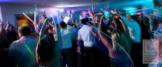 Glow Sticks on the Dance Floor