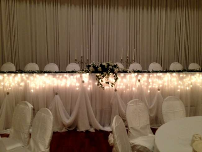 Lighted Head Table