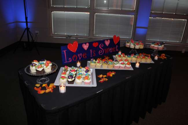 Love is Sweet cupcake table