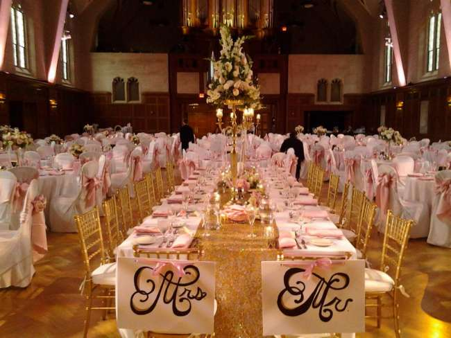 Blush & Gold Reception