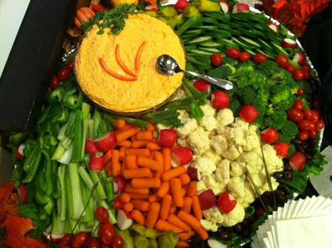 Chef Ali's vegetable platter