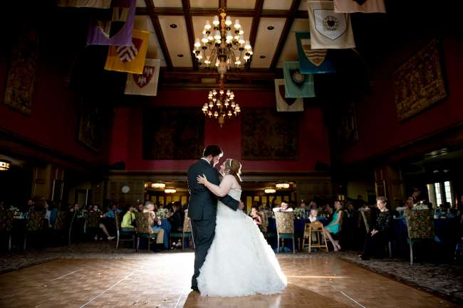 Bride & Groom's First Dance in The Tudor Room