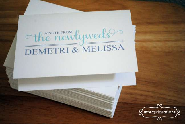 Newlyweds Notecards