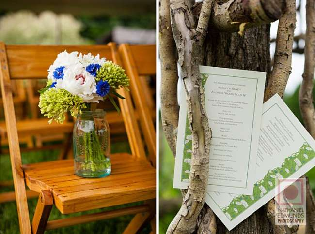 Rustic country ceremony