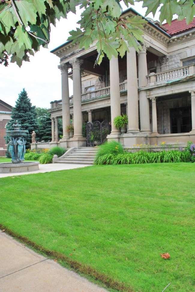 Grand mansion exterior